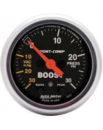 Nissan GT-R R35 AutoMeter Sport-Comp Electronic Boost Warning Gauge 30 PSI - 52mm