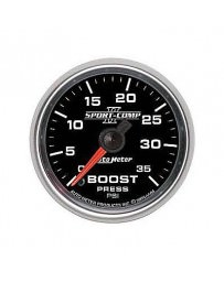 Nissan GT-R R35 AutoMeter Sport-Comp II Mechanical Boost Gauge 35 PSI - 52mm