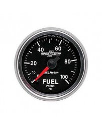 Nissan GT-R R35 AutoMeter Sport-Comp II Full Sweep Electronic Fuel Pressure Gauge 100 PSI - 52mm