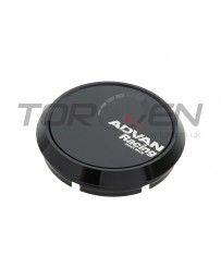 370z Advan Racing Flat Center Cap, Black - 73mm
