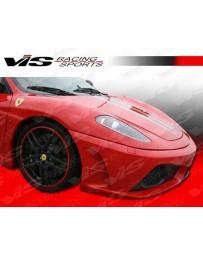 VIS Racing2005-2009 Ferrari F430 Scuderia Style Front Bumper With Carbon Fiber Add-On Lower Center Lip