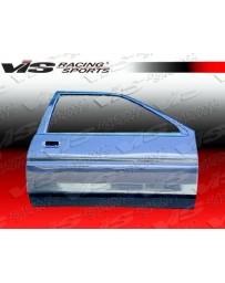 VIS Racing Carbon Fiber Door OEM Style for Toyota Corolla 2DR & Hatchback 84-87