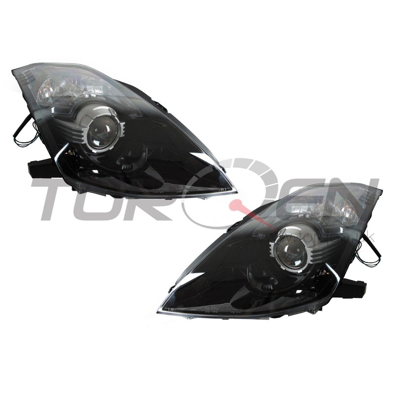 350z Depo Blacked Out Bi-Xenon Projector Headlight Set