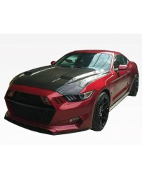 VIS Racing Carbon Fiber Hood MK7 Style for Ford MUSTANG 2DR 15-17