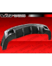 VIS Racing 2010-2013 Chevrolet Camaro Sx Carbon Rear Lip With Dry Carbon Exhaust Molding