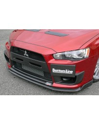 ChargeSpeed Bottom Line Type 2 Carbon Front Lip Spoiler Mitsubishi EVO X 08-12