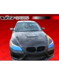 VIS Racing 2004-2008 Bmw E60 4Dr Ams Front Bumper With Carbon Lip