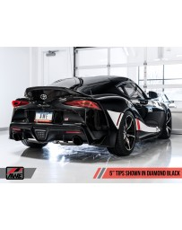 "Toyota Supra GR A90 AWE Tuning Non-Resonated Touring Edition Exhaust 5"" Diamond Black Tips"