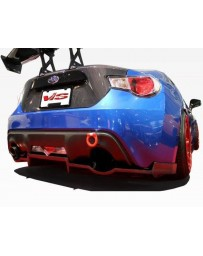 VIS Racing 2013-2016 Scion FRS 2dr N1 Carbon Rear Diffuser with mounting brackets