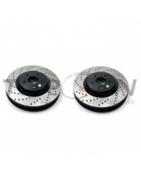 350z DE Stoptech Direct Replacement Rotors - (Non-Brembo) Rear Pair Drilled/Slotted 2003-2005