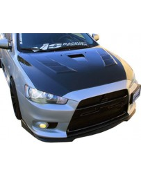 VIS Racing Carbon Fiber Hood Terminator GT Style for Mitsubishi EVO 10 4DR 08-15