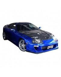 VIS Racing Carbon Fiber Hood Drift 2 Style for Toyota Supra 2DR 93-98