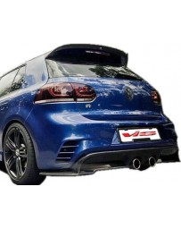 VIS Racing 2010-2014 Volkswagen MK6 Golf Razor Rear Bumper with carbon diffuser