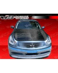 VIS Racing Carbon Fiber Hood OEM Style for Infiniti G37 4DR 09-13