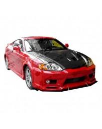 VIS Racing Carbon Fiber Hood Cyber Style for Hyundai Tiburon 2DR 03-06