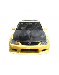 VIS Racing Carbon Fiber Hood Invader Style for Lexus IS300 4DR 00-05