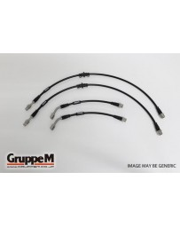GruppeM ALFA ROMEO BEREA 3.2 JTS Q4 SKYWINDOW 2006 - 2011 STAINLESS STEEL FITTING (BH-8010S) FRONT & REAR SET