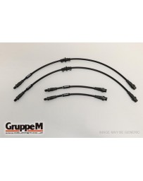 GruppeM AUDI A3 (8P) 3.2 Q (Non-Front Banjo) 2003 - 2008 CARBON STEEL FITTING FRONT & REAR SET (BH-2005)