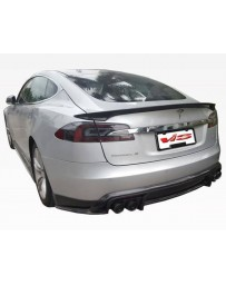 VIS Racing 2012-2015 Tesla Model S VIP Carbon Fiber Trunk Spoiler