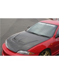 ChargeSpeed FRP Vented Hood (Japanese FRP) Chevrolet Cavalier 95-02