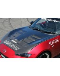 ChargeSpeed Vented FRP Hood (Japanese FRP) Mazda Miata ND 15-18