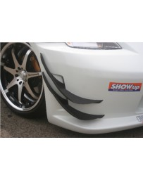 ChargeSpeed Carbon Lower & Upper Canards (Japanese CFRP) For Charge Speed Type-1 Front Bumper Nissan 350Z 03-08
