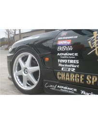 ChargeSpeed Front Wide Fender 20MM Wide (Japanese FRP) Pair Nissan Silvia S15 99-05