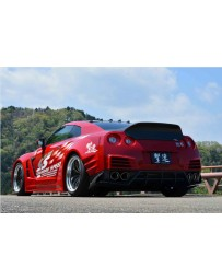 ChargeSpeed Wide Body Complete Kit with Carbon Front & Rear Under Diffuser (Japanese CFRP) Nissan GTR 12-19