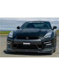 ChargeSpeed Bottom Line Gloss Carbon Front Lip (Japanese CFRP) Nissan GTR 12-16