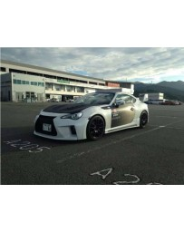 ChargeSpeed Bottom Lines FRP Type 2 Complete Lip Kit with FRP Over Fenders (Japanese FRP) 9 Pieces Subaru BR-Z ZC-6 13-16