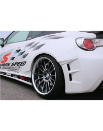 ChargeSpeed FRP 30MM Rear Fenders Set (Japanese FRP) 4 Pieces Subaru BR-Z ZC-6 13-18