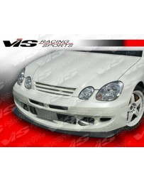 VIS Racing 1998-2005 Lexus Gs 300/400 4Dr Alfa Front Bumper With Carbon Fiber Lower Add-On Front Lip