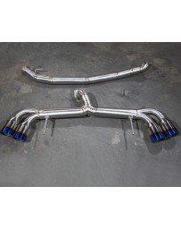 Agency Power Titanium Exhaust System 90mm Piping with Blued 120mm Tips Nissan GT-R R35 09-20