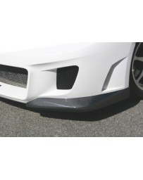 ChargeSpeed Front Bottom Cowl For Type-2 Front Bumper Carbon (Japanese CFRP) Pair Subaru WRX Sti 08-14