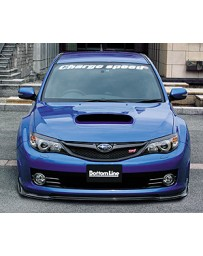 ChargeSpeed Bottom Lines Type 2 FRP Front Lip for STi (Japanese FRP) Subaru WRX Sti 08-10