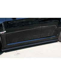 ChargeSpeed Bottom Lines Type-1 Carbon Side Skirts (Japanese CFRP) Subaru WRX STi GR-B 08-14