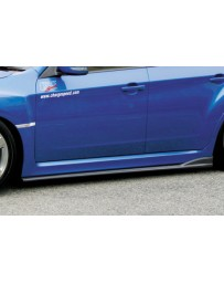 ChargeSpeed Bottom Lines Type-2 Carbon Side Skirts (Japanese CFRP) Subaru WRX STi GR-B 08-14