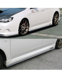 ChargeSpeed Bottom Lines Side Skirts Carbon (Japanese CFRP) Subaru WRX NON-STi GH8 Sedan Hatchback 08-10