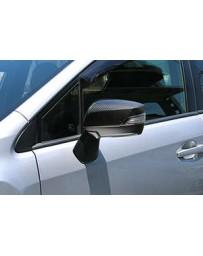 ChargeSpeed Dry Carbon Door Mirror Cowl in Twill Weave - Subaru WRX STi 4 Doors Sedan VA-B/ WRX S4 VAG/ LEVORG VM4/VMG 15-19
