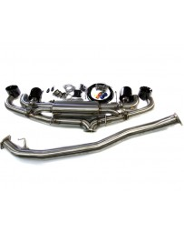 Agency Power Electronic Valve Controlled 90mm Exhaust Muffler with Black Chrome Tips Nissan GT-R R35 09-20