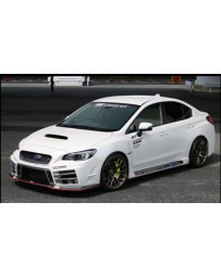 ChargeSpeed Type-3B Front Bumper with FRP Under Part (Japanese FRP) - With LED Lights Subaru WRX STi 15-19