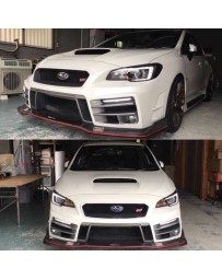 ChargeSpeed Type-3B Complete Kit with Front FRP Under Part Japanese FRP With LED Front Bumper Lights Subaru WRX STi 15-19