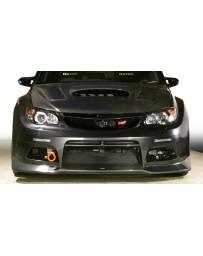 Varis Front Bumper with Carbon Lip Spoiler Subaru STI GRB 08-12