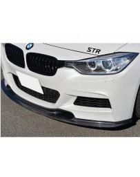Varis Carbon Fiber Front Spoiler BMW 320i F30 M Sport 12-16