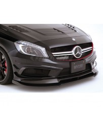 Varis Carbon Fiber Front Spoiler and Extension Lip Set Mercedes Benz A45 AMG Wagon 13-18