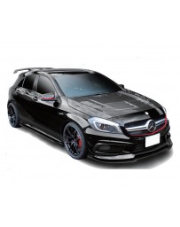 Varis FRP with Carbon Accent Cooling Bonnet Hood System 1 Mercedes Benz A45 AMG Wagon 13-18