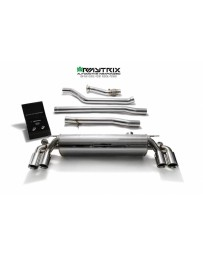 ARMYTRIX Stainless Steel Valvetronic Catback Exhaust System Quad Matte Black Tips BMW 540i G30 G31 2017-2020