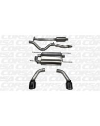 "Toyota GT86 Corsa Performance 2.5"" Cat-Back Exhaust, Dual Rear Exit with Single 4.5"" Black Pro-Series Tips"