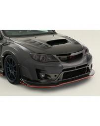 Varis Front FRP Spoiler Subaru STi GVB Sedan 08-16