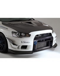 Varis Front Bumper Version 2 w/Carbon Super Taikyu Under Lip Mitsubishi EVO X CZ4A 08-15
